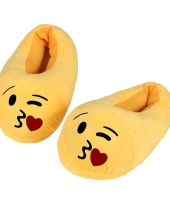 Kinderen kus smiley pantoffels