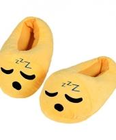 Kinderen slapende smiley pantoffels