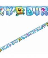 Kinderfeest spongebob letter banner