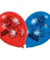 Kinderfeest thema ballonnen super mario en luigi