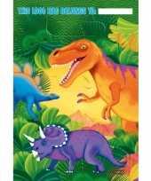Kinderfeestje dinosaurus bekers 16 stuks