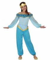 Kinderkostuum blauwe arabische prinses