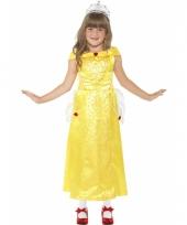 Kinderkostuum gele prinsessenjurkje voor meisjes