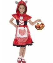 Kinderkostuum roodkapje voor meisjes