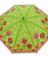 Kinderparaplu met bloemetjes print voor meisjes