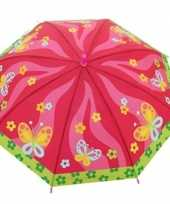 Kinderparaplu met vlindertjes print voor meisjes