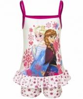 Kinderpyjama frozen wit roze anna en elsa