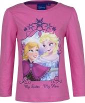 Kindershirt anna en elsa roze