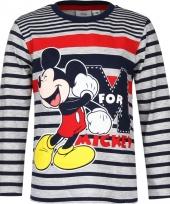 Kindershirt mickey mouse grijs met blauw
