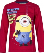 Kindershirt minion carl rood