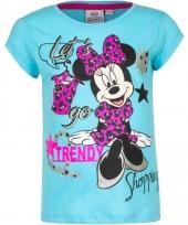 Kindershirt minnie mouse blauw 10076463