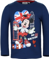 Kindershirt minnie mouse blauw