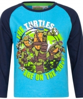 Kindershirt ninja turtles blauw