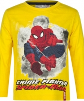 Kindershirt spiderman geel