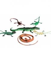 Kinderspeelgoed plastic reptielen 6 stuks