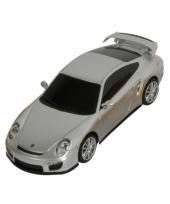 Kinderspeelgoed zilveren porsche autootje