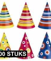 Kinderverjaardag punthoedjes 100 stuks