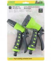 Kinzo broespistool spuitpistool sproeikop set voor tuinslang