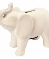 Klei spaarpot indiaase olifant wit