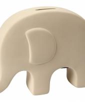 Klei spaarpot olifant wit