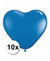 Kleine blauwe hartjes ballonnen 10 stuks