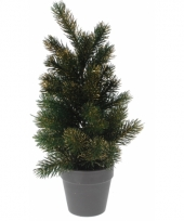 Kleine kerstboom gouden glitters 40 cm
