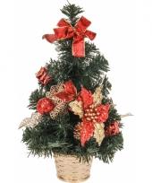 Kleine kerstboom met rode decoratie 10065435