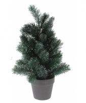 Kleine kerstboom zilveren glitters 40 cm