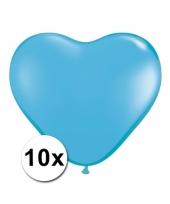 Kleine lichtblauwe hartjes ballonnen 10 stuks