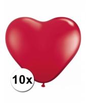 Kleine rode hartjes ballonnen 10 stuks