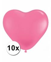 Kleine roze hartjes ballonnen 10 stuks