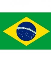 Kleine vlag van brazilie 60 x 90 cm