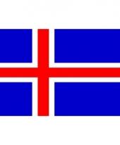 Kleine vlag van ijsland 60 x 90 cm