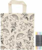 Kleurpakket tasje eenhoorn en stiften
