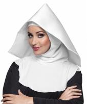 Klooster thema hoofdkapje wit