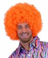Knal oranje clowns pruiken