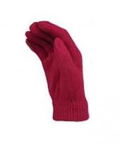 Knalroze handschoenen