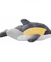 Knuffel dolfijn knuffeltje geel grijs 25 cm