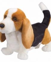 Knuffel hondje basset hond 41 cm