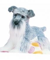 Knuffel hondje dwerg schnauzer 41 cm