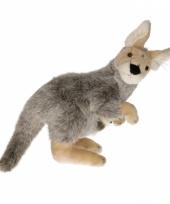Knuffel kangoeroe 33 cm