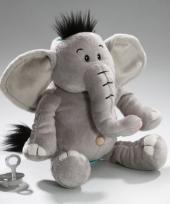 Knuffel kluis olifant 17 cm