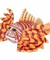Knuffel zee koraalduivel vis oranje 21 cm knuffels kopen