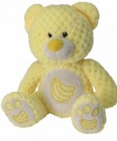 Knuffeldier geel beertje 25 cm