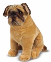 Knuffeldier hond mopshond 40 cm