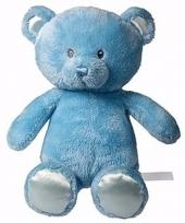 Knuffeldier julian blauw beertje 28 cm