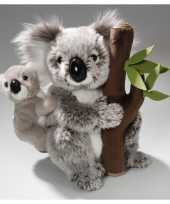 Knuffeldier koala met baby 25 cm