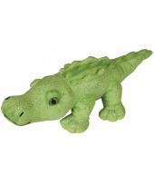 Knuffeldier krokodil met glitters 30 cm