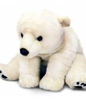 Knuffeldier pluche ijsbeer knuffel 110 cm