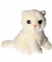 Knuffeldier witte kat 20cm